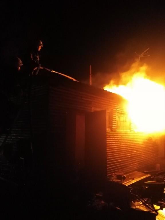 Пожежа вагончика в Броварському районі, фото-2