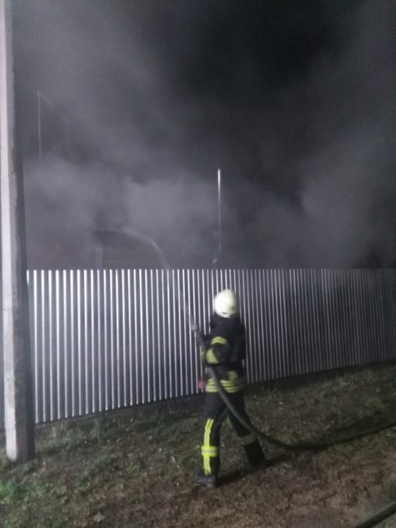 Пожежа вагончика в Броварському районі, фото-1