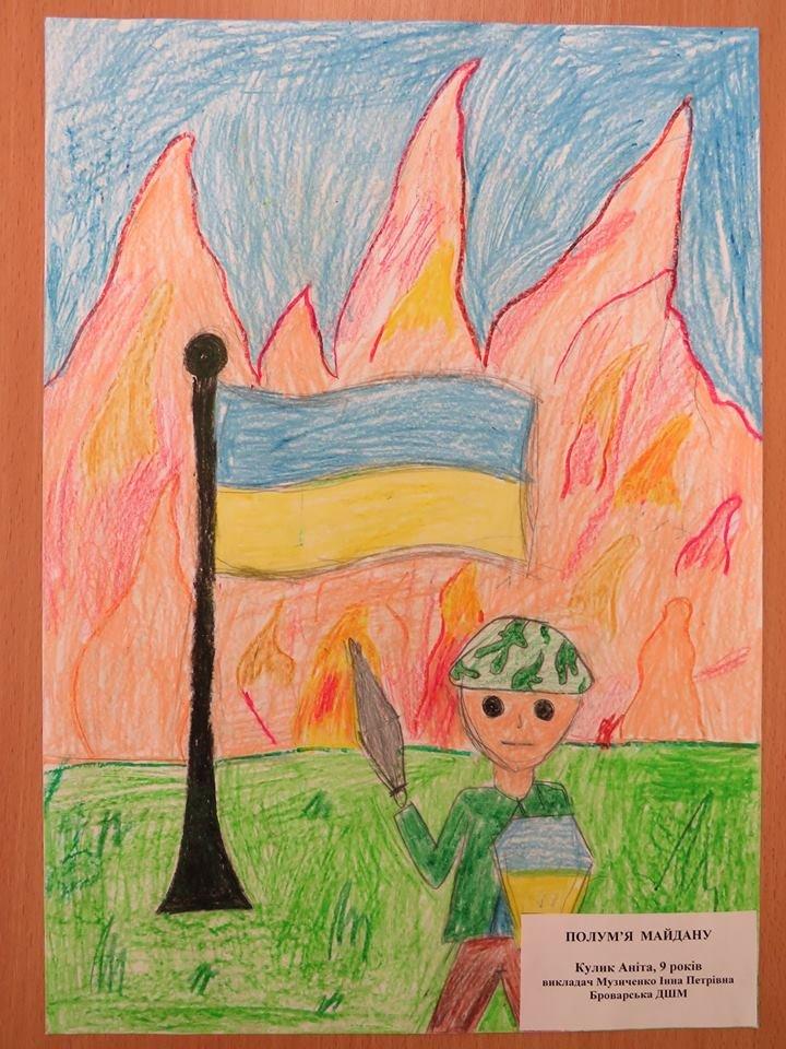 У Броварах відбувся конкурс дитячого патріотичного малюнку, фото-2