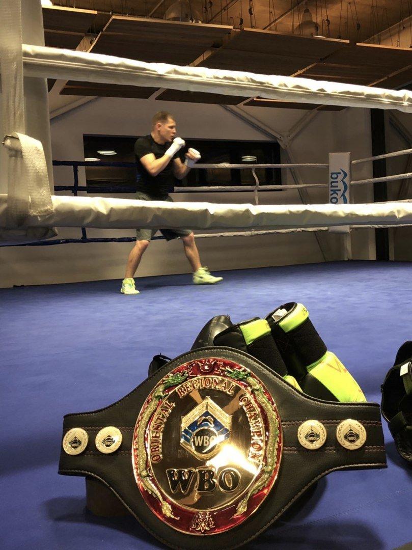 Пояс WBO Oriental прибув до тренувального табору Дениса Беринчика, фото-3